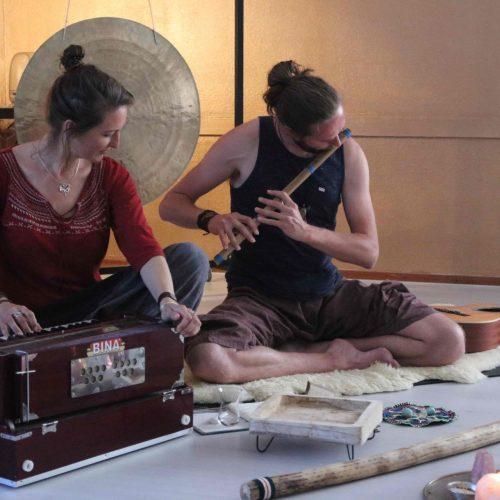 yoga en muziek