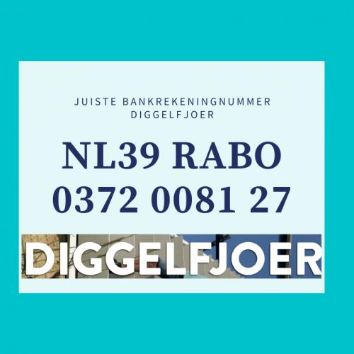 rekeningnummer Diggelfjoer